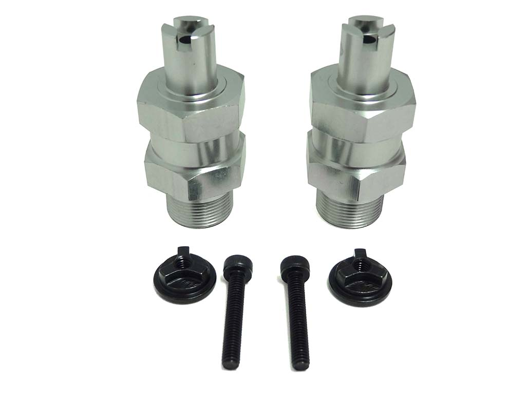 Baja Front Clipless 1 Inch Wheel Extenders Silver Rv95144s
