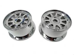 1/5 Baja 5B Buggy Rear Chrome Wheels, Rims