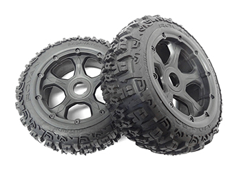 Baja Buggy Rear Off-Road Excavator Tires on Rims 170x80