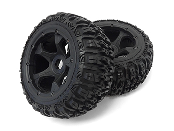 Baja Buggy Front Off Road Excavator Tires on 10 Spoke Rims (set of 2)