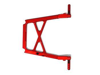 CNC Aluminum Center Roll Cage Support Brace (red-orange)