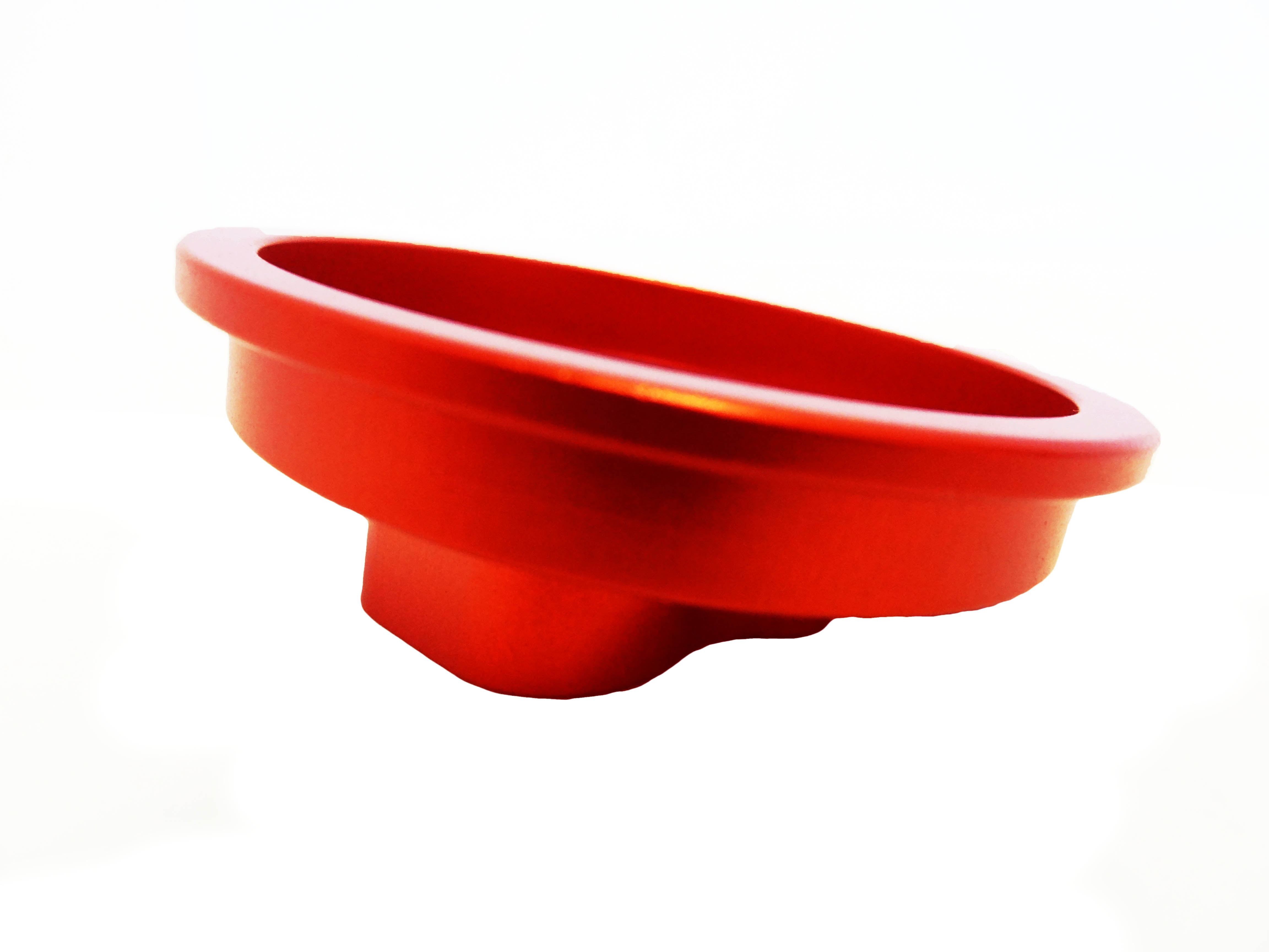 CNC Aluminum Angled Air Filter Mount (orange)