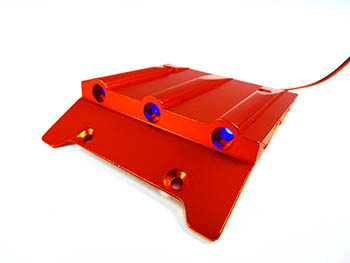 CNC Aluminum Alloy Lighted Roof Scoop (orange)