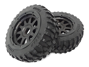 1/5 Scale Baja Front Gravel All-Terrain Tires (Set Of 2)