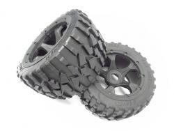 1/5 Scale Baja Rear Gravel All-Terrain Tires on 5 Spoke Wheels (Set Of 2)