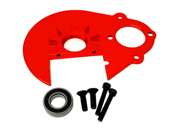 Baja Aluminum Alloy Heavy Duty Spur Gear Plate with Bearing Holder (orange)