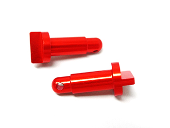 CNC Aluminum Spur Gear Cover Mounting Pins (orange) (set of 2)