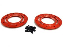 Baja CNC Aluminum Outer Beadlocks (2) (red-orange)