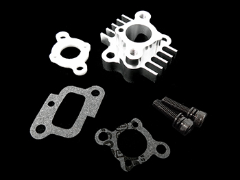 CNC Silver Aluminum Intake Spacer Carburetor Mount for Rovan 32cc, 36cc and 45cc engines