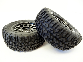 LT, SLT V5 Buggy & Truck Tires & Aluminum Wheels (set of 2)