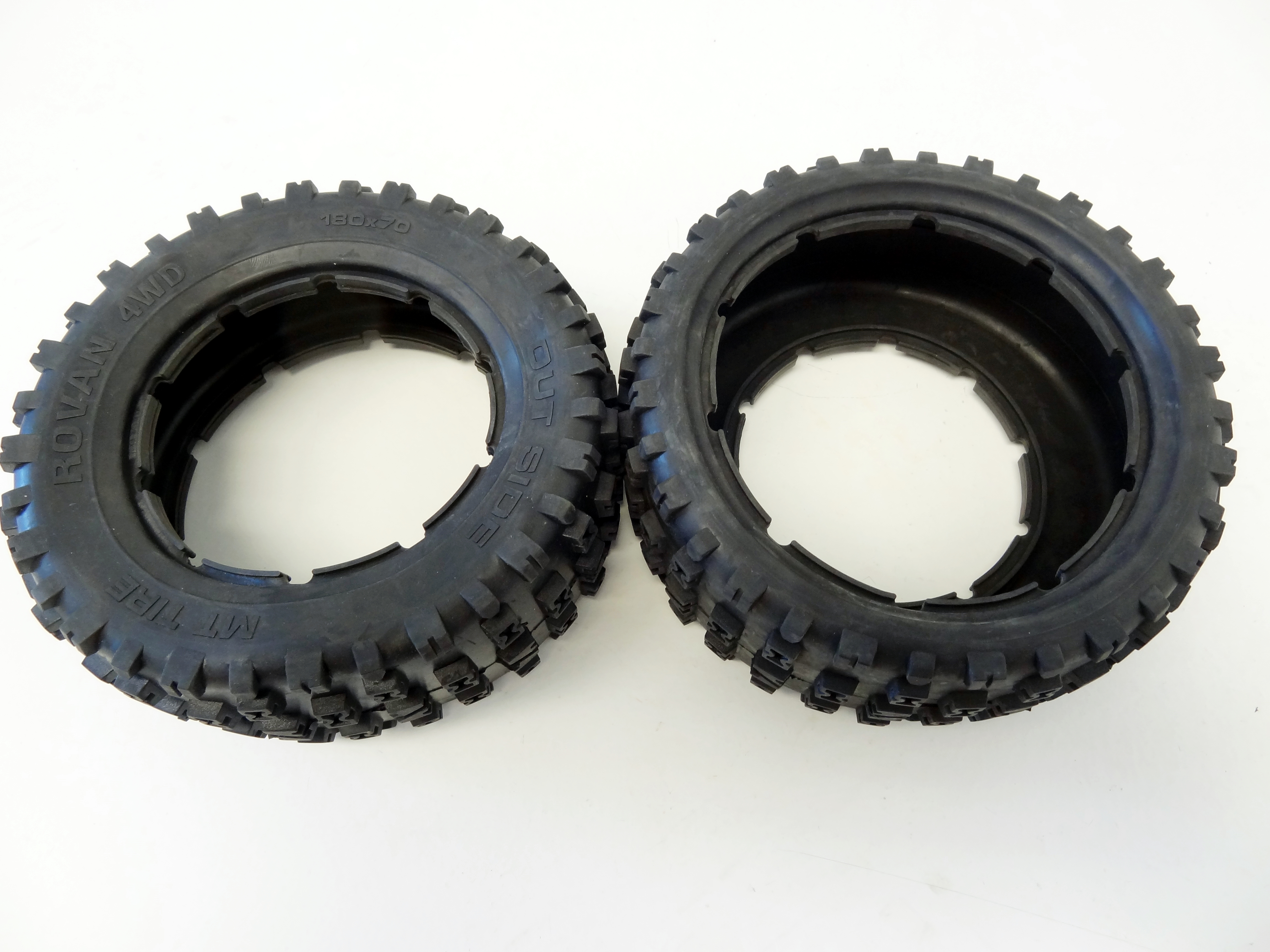 180X70 1//5 Rovan RC LT HD Belted Off Road Tires Fits Losi 5IVE-T King Motor X2