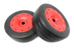 LT/SLTOn-Road Racing Slicks Tires Mounted on 6-Spoke Rims Fits LOSI 5IVE-T KM X2
