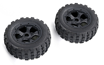 Rovan LT Truck Wasteland Knobby Tires On Rims 185 x 70 (2) Fits LOSI 5IVE-T