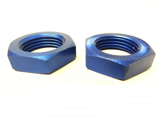 LT Short Course and SLT Buggy Wheel Nuts (blue) (set of 2)