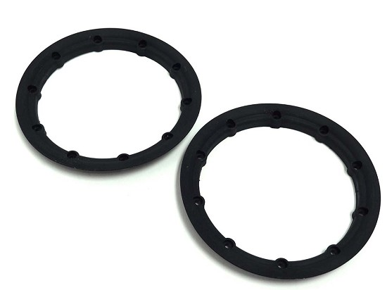 Rovan 1/5 F5 Race Car Black Nylon Outer Beadlocks (Set of 2) Fits MCD LT Truck, LOSI 5IVE-T