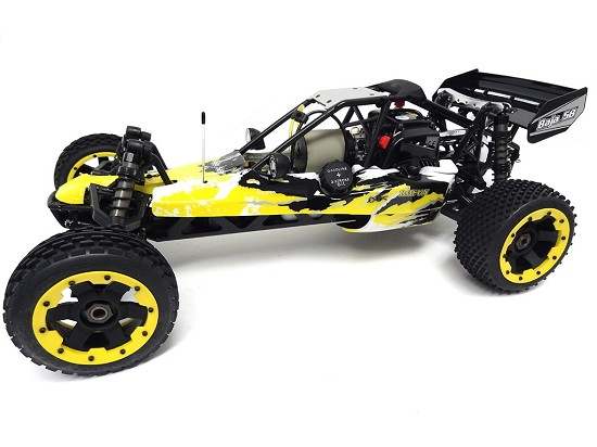 1/5 Rovan 305A Gas Petrol Buggy Ready To Run RTR 30.5cc HPI Baja 5B SS King Motor Compatible with PERFORMANCE PIPE! (Yellow)