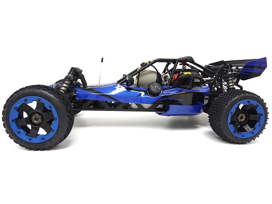 1/5 Scale Rovan 360A Gas Petrol Baja Buggy Ready To Run 36cc (blue) with PERFORMANCE PIPE! (COPY)