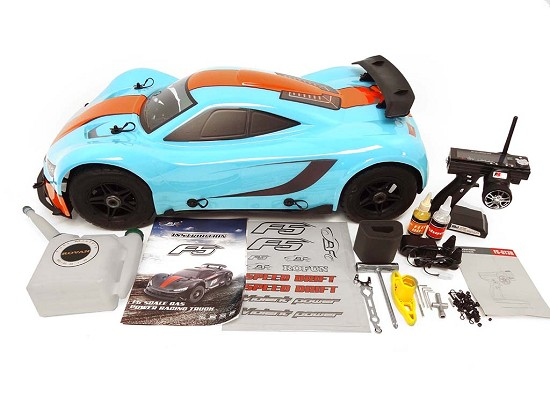 1/5 Scale 360F5 36cc Gas 4WD On-Road RTR Race Car (blue)