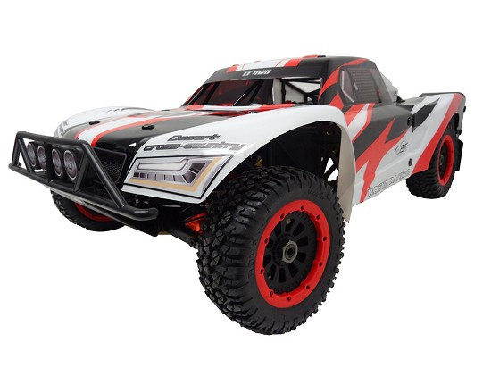 45cc High Performance Ready To Run LT450 4WD Short Course Truck (black/white/red)