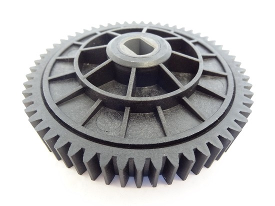 57 Tooth Plastic Spur Gear and Holder