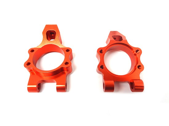 CNC Aluminium Rear Wheel Hub Carrier Set and Shim Kit(orange)