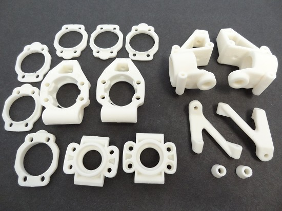 Baja NYLON Front and Rear Hubs, Shim Kit (white)