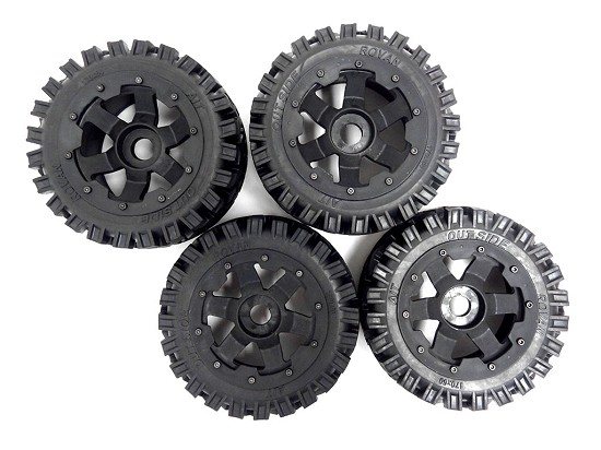 Baja Buggy All-Terrain Tires Mounted on 6-Spoke Wheels