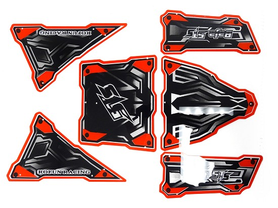 6-Piece Roll Cage Panel Kit for Baja MAX TS 5T (Red)