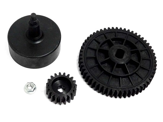 High Speed Metal Gear Kit 19t HD Pinion 55 Spur with Bell