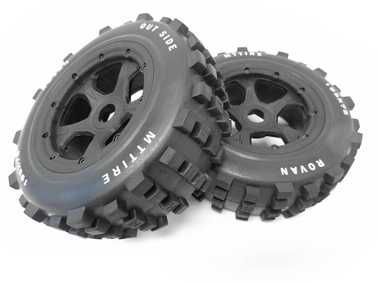 1/5 Scale Truck Dirt Knobby Tires/Wheels 195x75