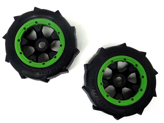 1/5 Baja Truck Rear Sand Paddle Wheels & Tires (2)
