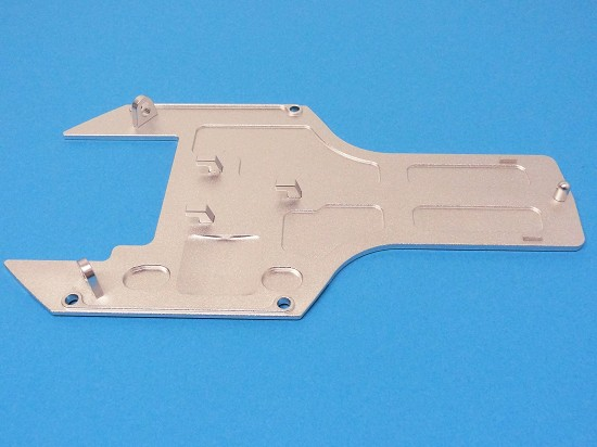 CNC Aluminum Rear Chassis Guard Plate (silver)