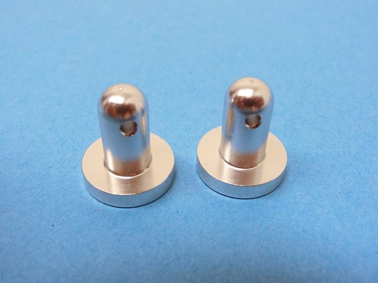 CNC Aluminum Rear Radio/Servo Box Mounting Pins (silver) (set of 2)