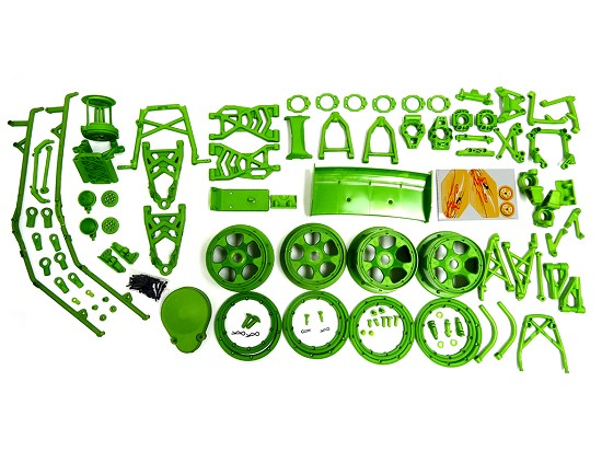 Baja Buggy Green Nylon Suspension Complete Kit